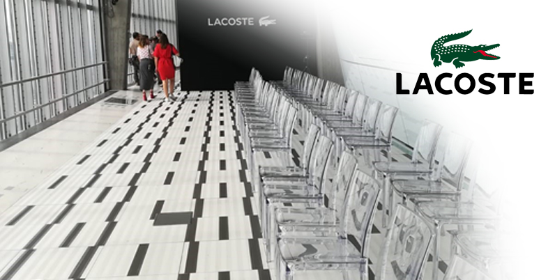 catering for lacoste in milan